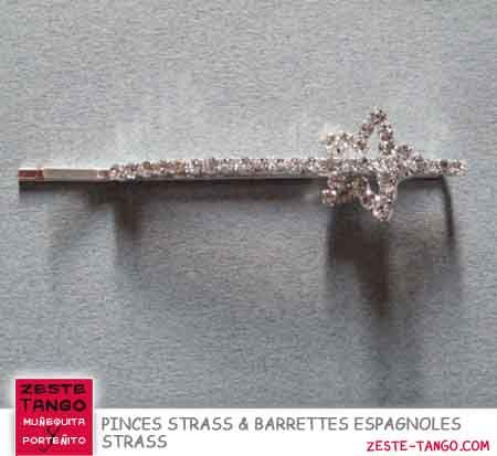 Pince strass forme étoile
